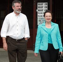 At THE POLLS: Bairbre takes it in her stride