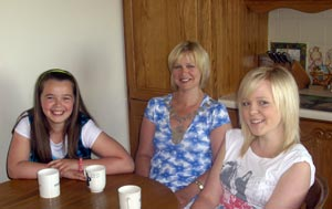 TEA WITH THE MAYOR: Sandra McLellan with daughters Kelly and Lorna