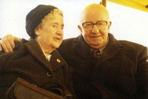 COMRADES: Madge McConville and Joe Cahill