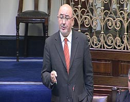 ADJOURNMENT DEBATE: Caoimhghín Ó Caoláin speaking in Leinster House
