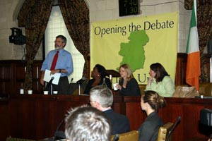 DEBATE: Gerry Adams lays out the case for Irish Unity