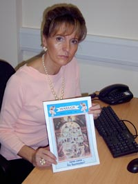 SINISTER: Sinn Féin MLA Martina Anderson with the copy of UDA publication Warrior which the PSNI are now investigating