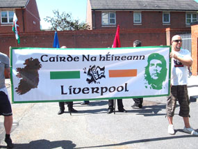 MASH FASCISM: Cairde na hÉireann (Liverpool) at the commemoration