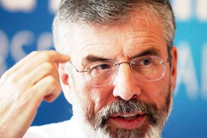 WAY FORWARD: Sinn Féin President Gerry Adams emphasised the importance and significance of meeting