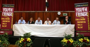 YOUTH FRINGE PANEL: The line-up included Jackie McDonald, Sean Murray and Mark Hamilton