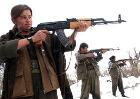 KURDISTAN: PKK fighters, Quandil mountains