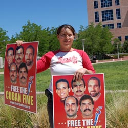 RELEASE CALL: Protests for the release of the Cuban Five