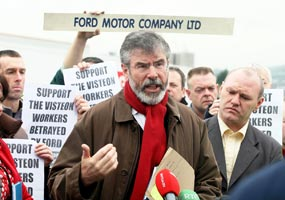 VISTEON: Gerry Adams believes former employees' rights must be honoured
