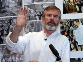 GERRY ADAMS: 'In Gaza the civilian population has borne the brunt of the fatalities'