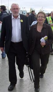 Sinn Féin TD Martin Ferris and Bairbre de Brún MEP