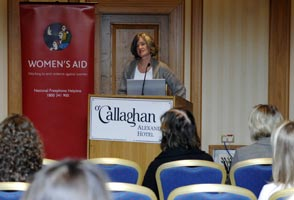 Womens Aid Director Margaret Martin at the launch of the Womens Aid National Freephone Helpline and Support Services and Annual Statistics last week. The organisation has expressed concern that more women are becoming trapped in abusive relationships as a