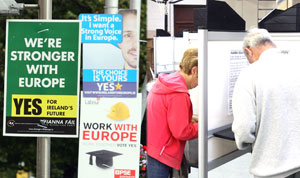 SWING: Fear and age were the resons the Yes vote won the Lisbon Treaty re-run referendum