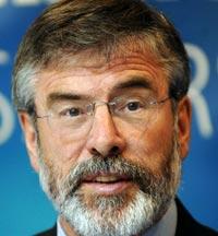 CHALLENGES FOR REUNIFICATION: Sinn Féin President Gerry Adams