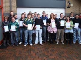 Some of the Ógra Shinn Féin activists who took part