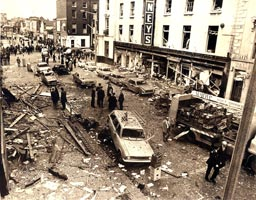 Talbot Street after the Dublin bombings