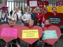 • COMHGHAIRDEAS: Gaelscoil Bharra have reached number 7 in the Irish charts