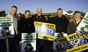 Martin Ferris supporting farmers in Clare