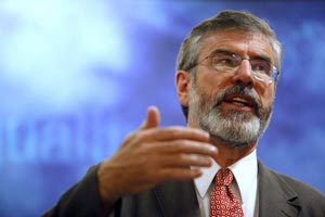 Gerry Adams focused on the current situation in the Peace Process and the issue of Irish reunification