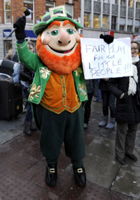 crock of gold: Even the leprechauns were demanding fair play for the little people
