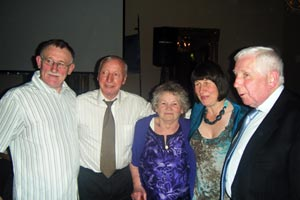 HONOURED: Dessie Ellis, Richard Butler, Dessie's mother Patricia and sister  Martha and Noel Hughes