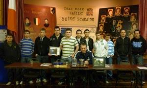 Seán Lynch with members of Ógra Shinn Féin in Fermanagh