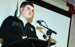 Outgoing National Organiser Barry McColgan