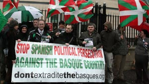 NO EXTRADITION: Basque solidarity in Belfast