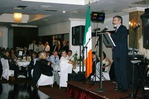 Gerry Adams making his address