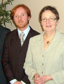 Declan Allison (Friends of the Earth) and Sinn Féin MEP Bairbre de Brún