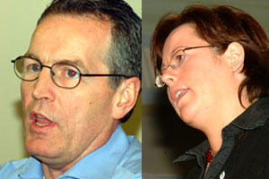 Gerry Kelly and Michelle Gildernew