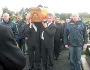 The funeral cortege of Winnie Harte