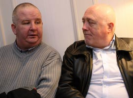 CONVICTIONS OVERTURNED: Charlie McMenamin and Danny Morrison