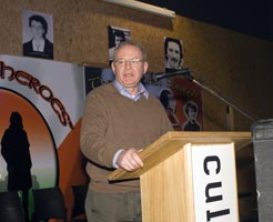 Derry Sinn Féin's Martin McGuinness delivered a talk in honour of the Volunteers and their families at the newly opened Gaelaras
