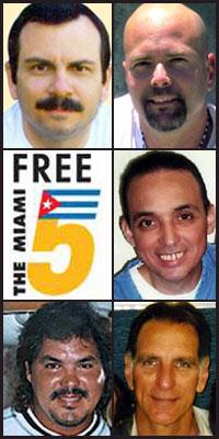 (clockwise from top left) Fernando González, Gerardo Hernández, Antonio Guerrero, René González and Ramón Labañino