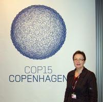 Bairbre de Brún at the Copenhagen Climate Summit