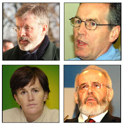 Gerry Adams, Gerry Kelly, Caitríona Ruane and Francie Molloy