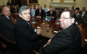 Gordon Brown and Brian Cowen joined the talks on Tuesday