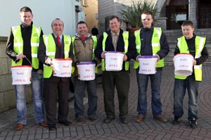 Pictured from left to right are Stephen Collins, Councillor Rossa Murray, Sean Hampson, Mike Maher, Jason Doyle and Jake Hampson