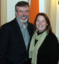 Gerry Adams and Michelle Gildernew
