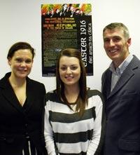 Mary Lou McDonald, Grace Lynch and Declan Kearney