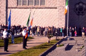 Eddie Collins lays a wreath at the republican plot in memory of Clonmult martyrs