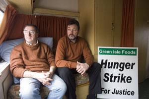 Green Isle hunger strikers Jim Wyse and John Guinan