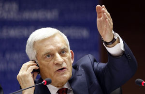 President of the European Parliament, Jerzy Buzek