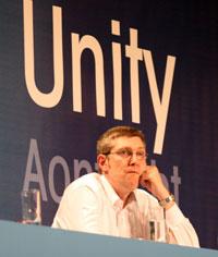 John O'Dowd pictured at the Sinn Féin Ard Fheis