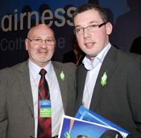 Alex Maskey and Niall Ó Donnghaile