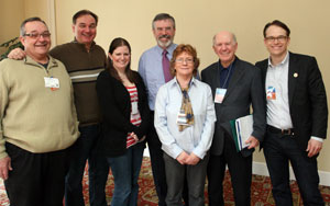 CANADIAN SOLIDARITY: Pat Totten, Alan McConnell, Alexandra Smith, Gerry Adams, Rita O'Hare, Warren Allmand and Chris Deehy