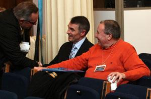 Declan Kearney and Mitchel McLaughlin at the Ard Fheis