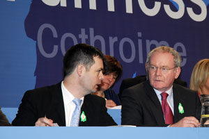 Pearse Doherty and Martin McGuinness at the Ard Fheis