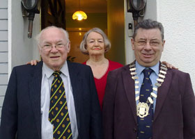 Mayor Joe Reilly with Mary and Ray Vaughan