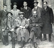 Back Row: David Cotter, Seán Murphy, Donal Barrett, Terence MacSwiney and Paddy Trahy. Front Row: Tadhg Barry, Tomás Mac Curtáin and P. O'Higgins